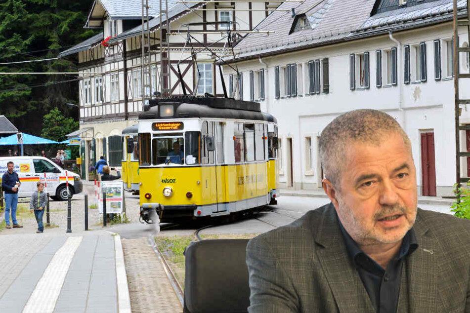 Landrat Michael Geisler (60, CDU) äußert sich zu aktuellen Themen der Sächsischen Schweiz. So auch über den Ausbau der Kirnitzschtalbahn.