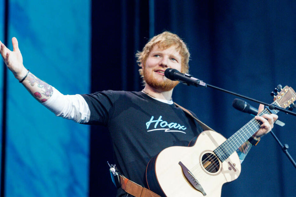 Ed Sheeran bei einem Konzert.