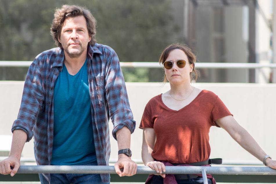 Die beiden Ermittler 2018 bei den Dreharbeiten zu einem Tatort.