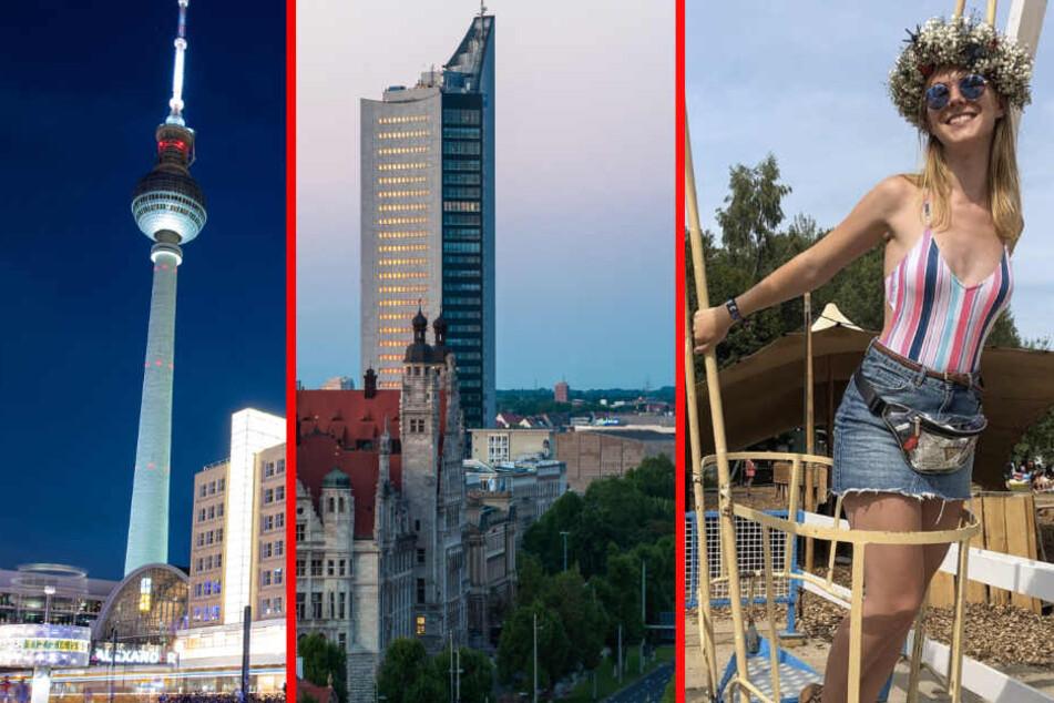 Berlin oder Leipzig? Da ist sich die Blondine noch nicht ganz so sicher.