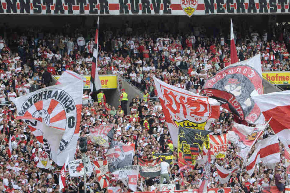 Hier stehen und singen die VfB-Fans am liebsten: In der Cannstatter Kurve im Neckarstadion.