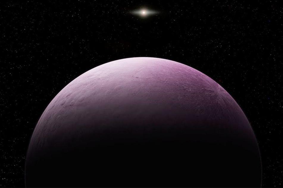"""Die von der Carnegie Institution for Science zur Verfügung gestellte Illustration soll den Zwergplaneten, der vorläufig """"2018 VG18"""" getauft wurde und den Spitznamen """"Farout"""" trägt, darstellen."""