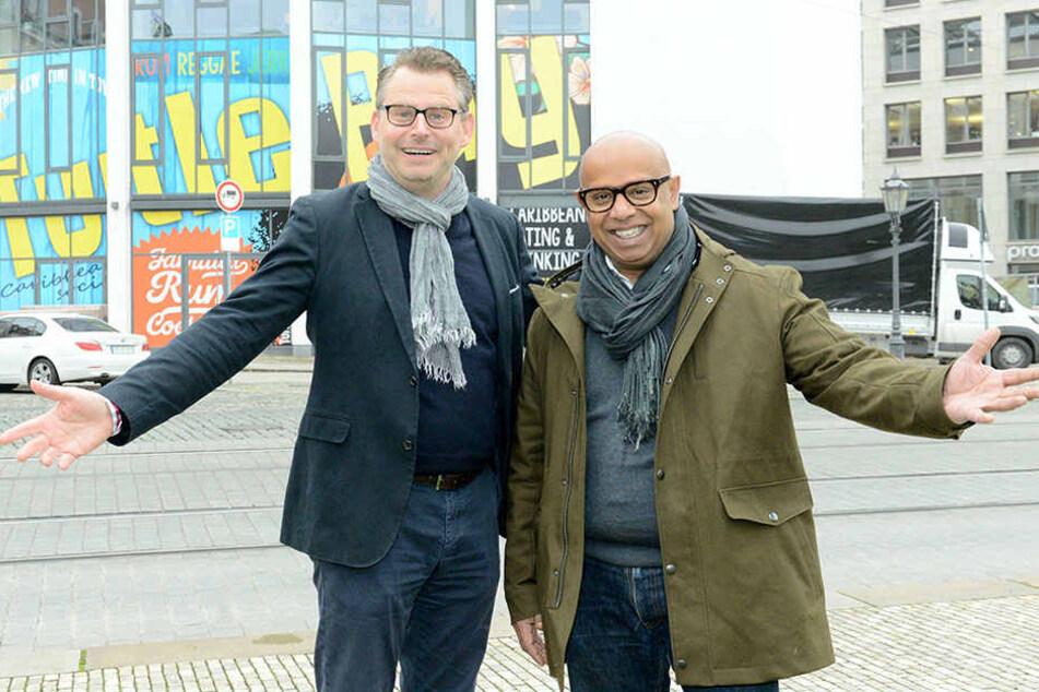 """Alexander Gausmann und Ajith Jajawickrema freuen sich auf das erste """"Turtle  Bay""""-Lokal in Deutschland."""