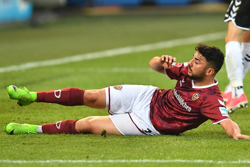 Aias Aosman war der Unglücksrabe beim Spiel gegen Fürth.