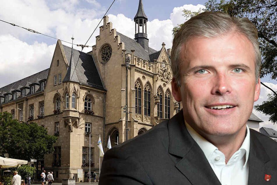 Erfurts Oberbürgermeister Andreas Bausewein (SPD) hatte im Stadtrat Probleme sein Sparpaket beim Koalitionspartner durchzusetzen.