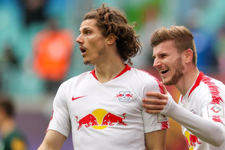Grund zur Freude? Am Dienstagabend könnten die Roten Bullen den Einzug ins Halbfinale des DFB-Pokals feiern.
