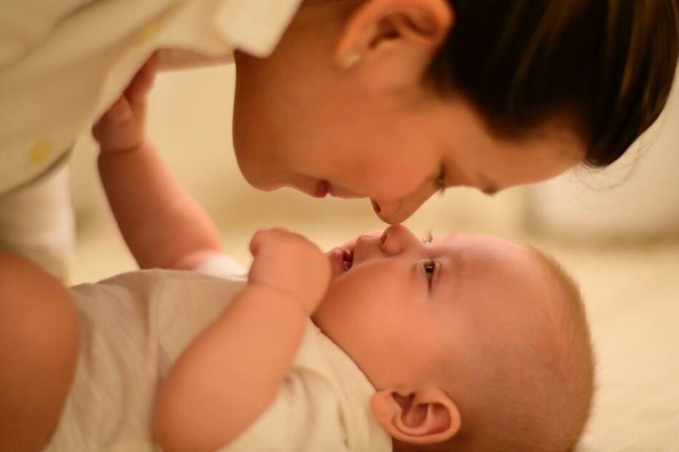 Mama und Baby können sich gut riechen.