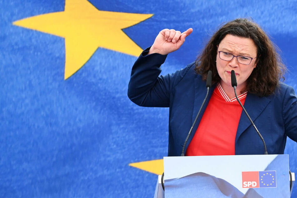 Andrea Nahles – hier am Freitag bei einer Wahlkampfveranstaltung in Bremen – fordert ein deutliches Votum gegen Rechts bei der Europawahl.