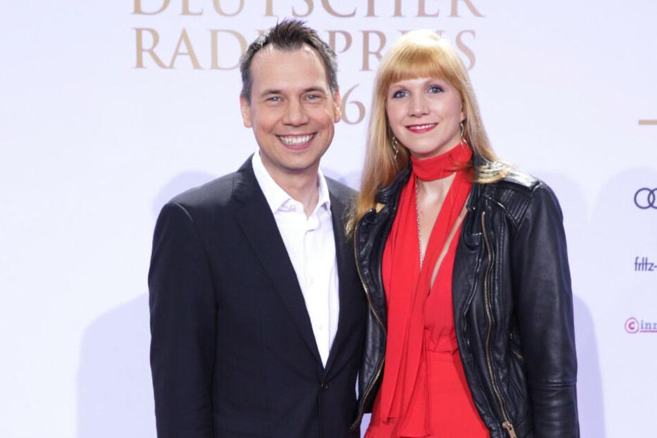 Sebastian Fitzek und seine Frau Sandra bei einer Verleihung in Hamburg. (Archivbild).