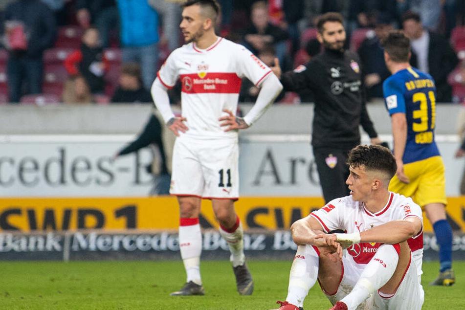Anastasios Donis (l.) und Marc Oliver Kempf (r.) nach der Pleite gegen Leipzig.