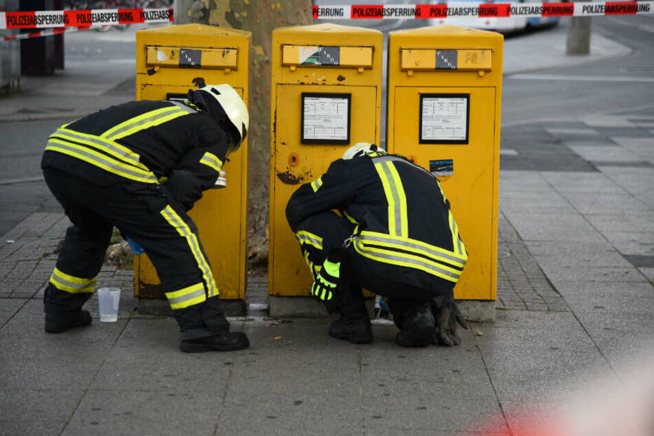 Feuerwehrleute vor Ort.