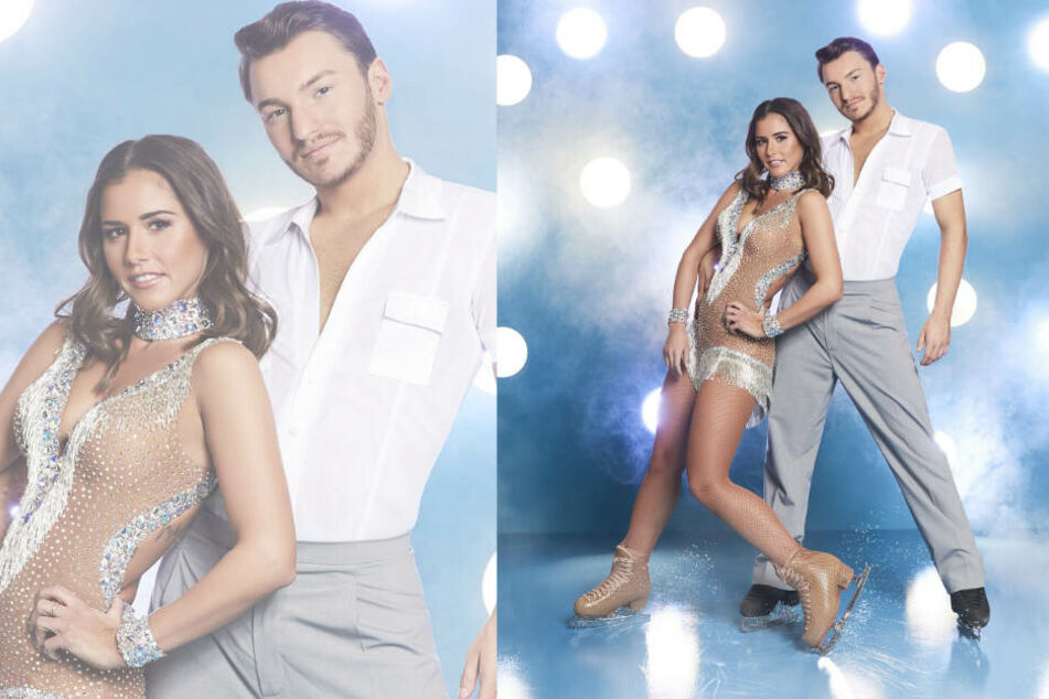 """Werden wir Sarah Lombardi und Tanzpartner Joti Palizoakis noch einmal bei """"Dancing on Ice"""" sehen?"""