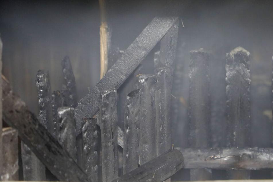 Von dem Feuer waren drei Kellerboxen betroffen.