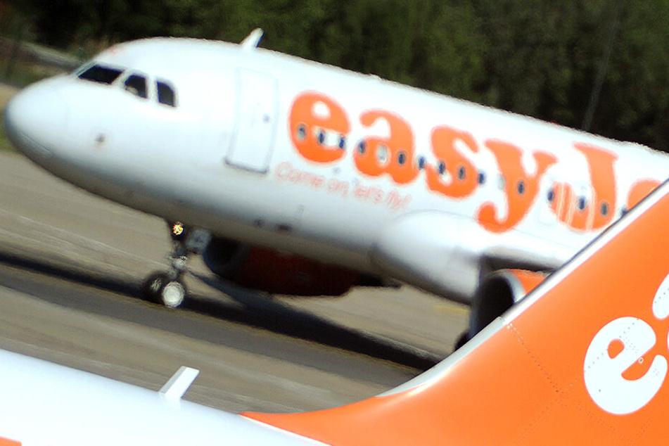 Ein Flieger der britischen Fluggesellschaft EasyJet.
