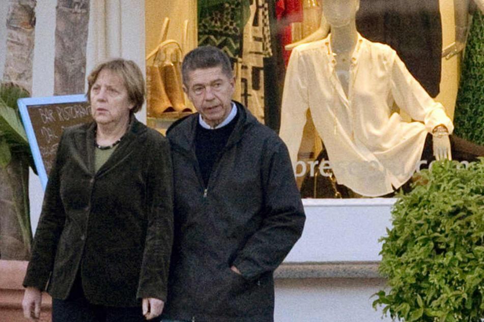 Angela Merkel und Ehemann Joachim Sauer im Italien-Urlaub 2014. (Archivbild)