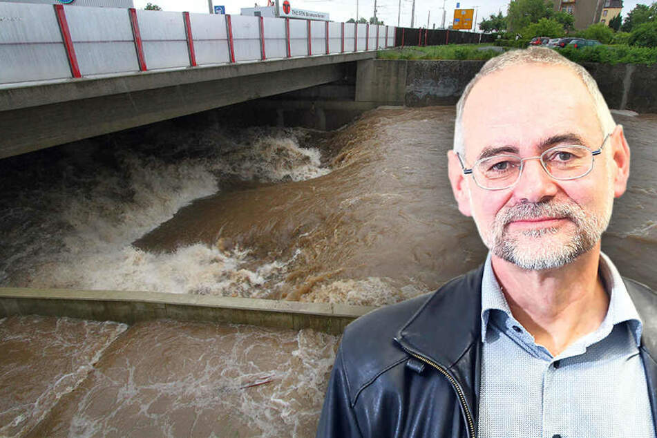 Hier wird der gefährlichste Fluss Dresdens entschärft
