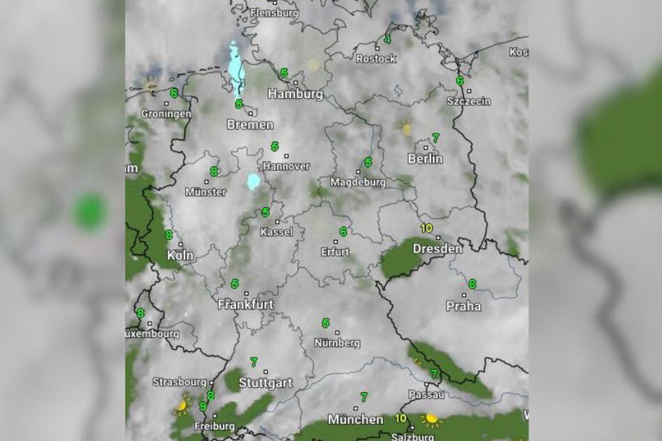 Vielerorts grau, teilweise neblig und trüb: Das Wetter in Deutschland bleibt zum Wochenstart durchwachsen.