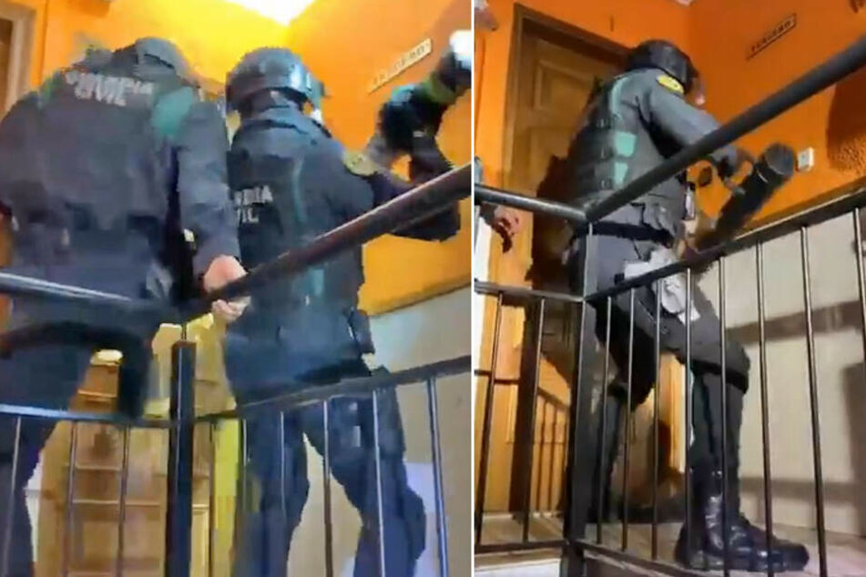 Irre! Polizei will Wohnung stürmen, doch die Tür ist ziemlich gut gesichert