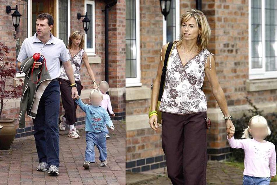 Maddies Eltern Kate und Gerry mit ihren anderen Kindern (Archivbild).