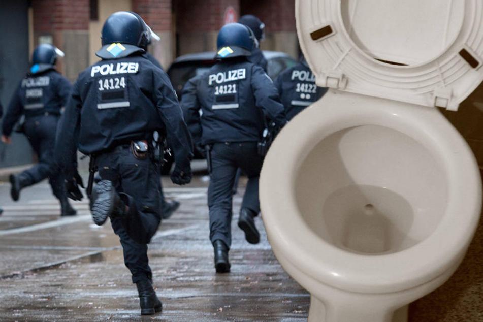 In Baden-Württemberg löste eine verstopfte Toilette offenbar eine Schlägerei aus. (Symbolbild)