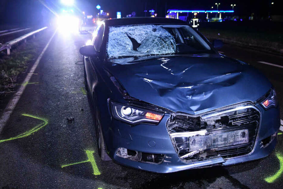 Der Audi erfasste den jungen Polen frontal.