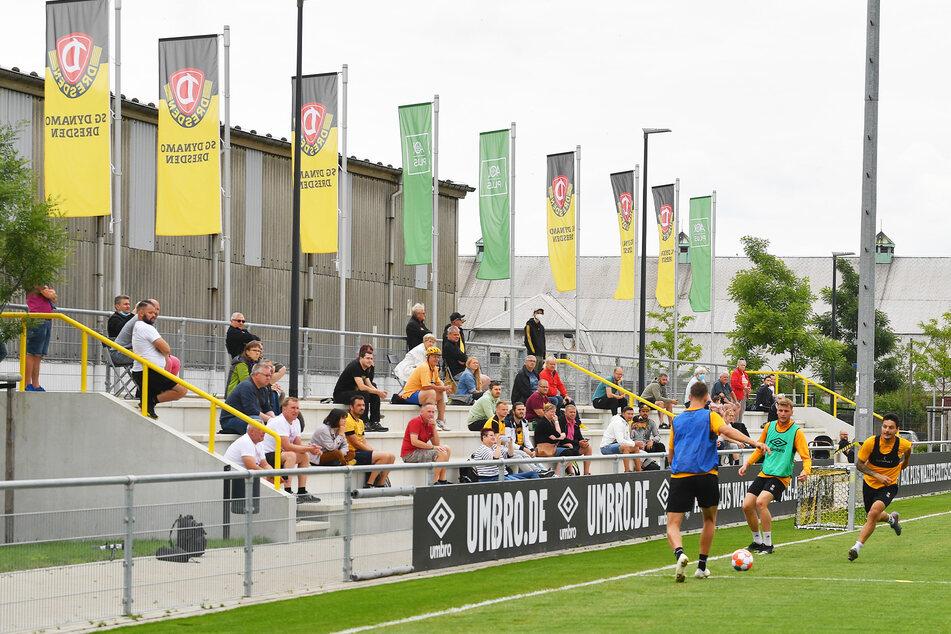 Am Dienstag durften erstmals in dieser Saison Fans beim Training zuschauen.