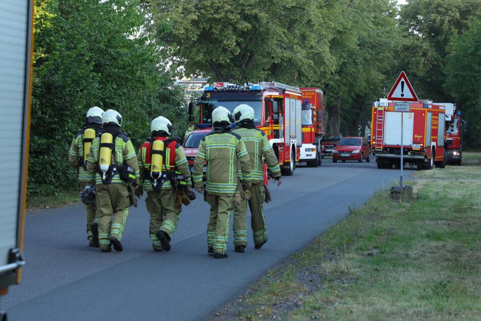 Gleich drei Feuerwehrwachen schickten Einsatzkräfte zu dem Brand.