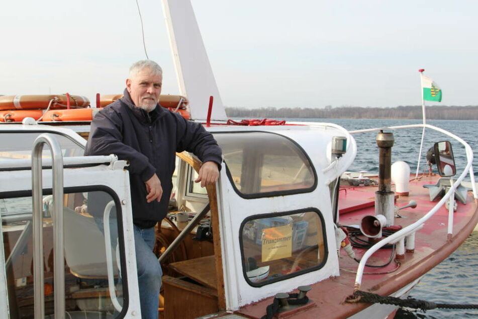 Findet keinen Nachfolger: Cospuden-Kapitän Frank Sporleder (65) muss sein Schiff wahrscheinlich verschrotten.
