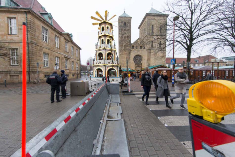 Umfangreiche Sicherheitsmaßnahmen prägten die Bilder der diesjährigen Weihnachtsmärkte.