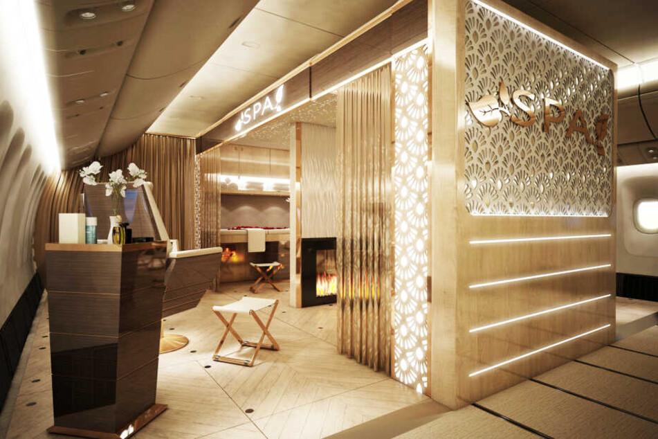 """Bei den """"Dubai Aviation Engineering Projects"""" wird zurzeit an einem Spa-Bereich im Flugzeug gearbeitet."""