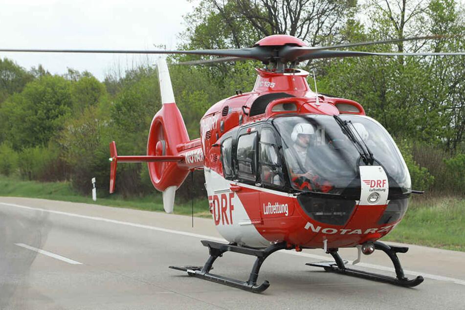 Der Notarzt musste per Rettungshelikopter zum Unfallort anrücken.