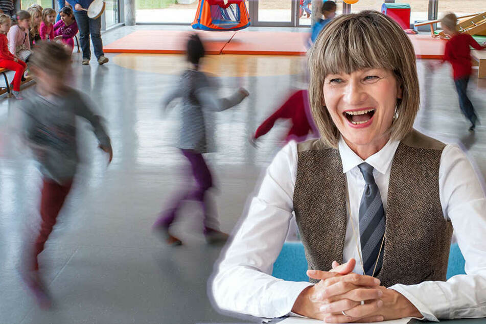 Begeisterte Oberbürgermeisterin: Barbara Ludwig (55, SPD) freut sich über die steigenden Kinder- zahlen in Chemnitz.