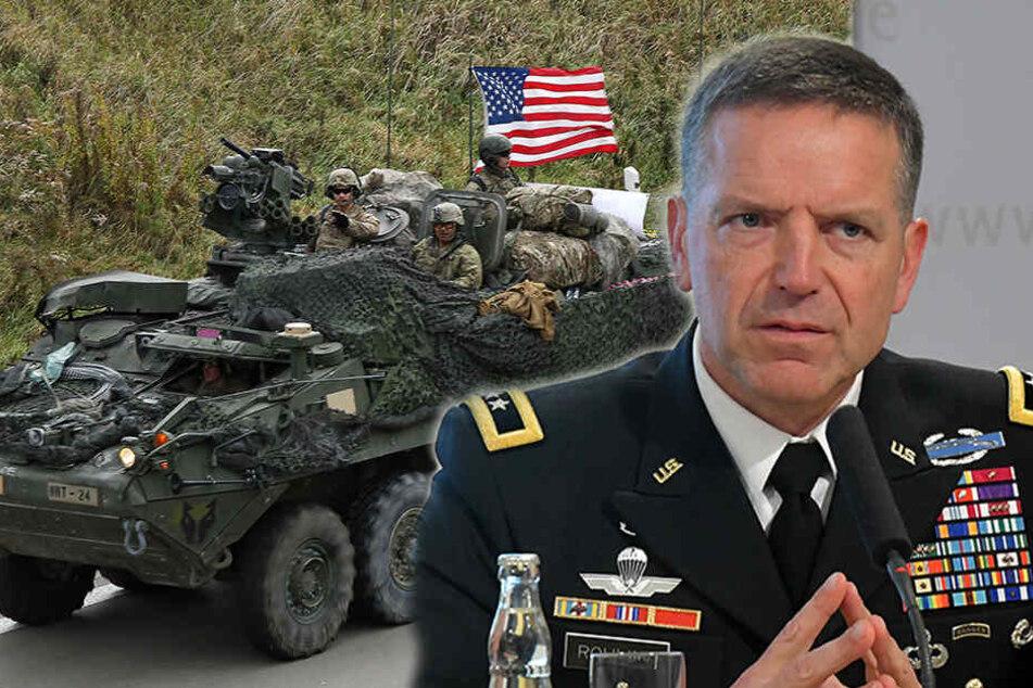 US-Truppen auf dem Weg nach Polen: Ami-Kolonnen rollen durch Sachsen
