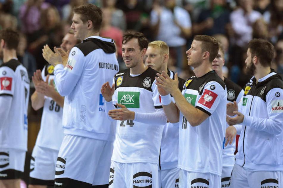 Die Spieler der deutschen Handball-Nationalmannschaft freuen sich schon auf ihre Heimspiele bei der WM 2019.