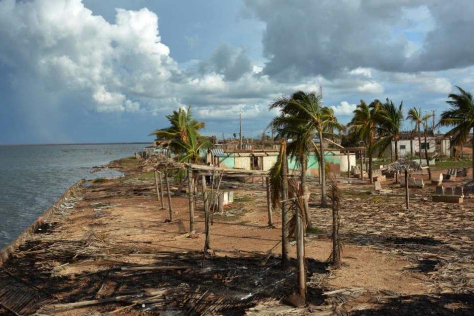 """Die Insel Barbuda ist von """"Irma"""" schrecklich zerstört. Der Wiederaufbau kostet 250 Millionen Euro."""