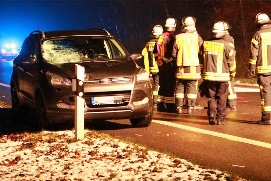 Nach Wildunfall auf B44 Polizistin (25) filmt und wird von Auto erfasst