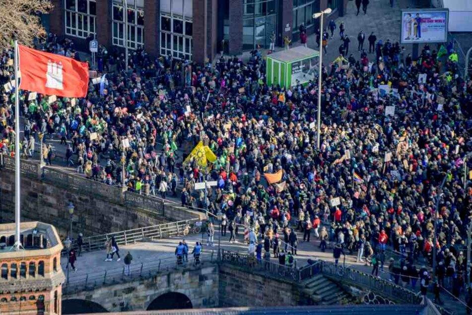 30.000 Teilnehmer! Mega-Klima-Demo legt Black Friday in Hamburg lahm