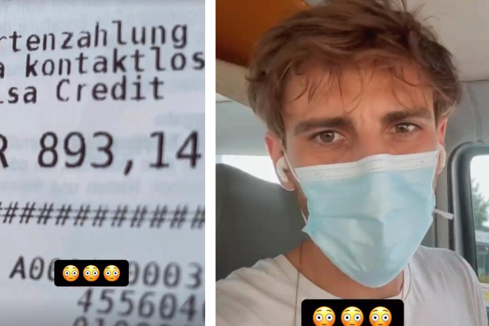 Fynn Kliemann (33) zeigt seinen Kassenbeleg auf Instagram.