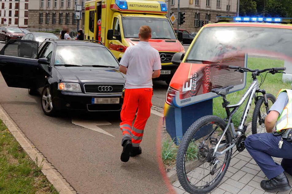 Jugendlicher bei schwerem Radunfall in Chemnitz verletzt
