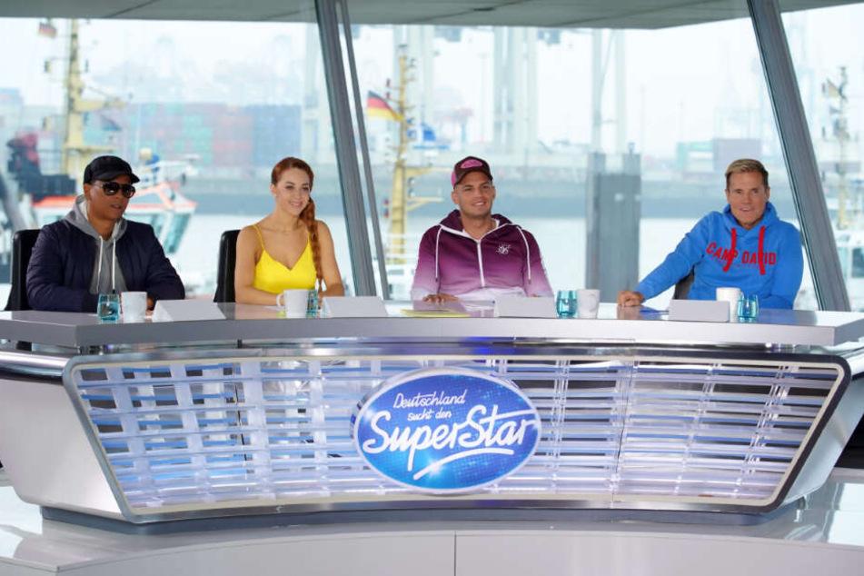 Die DSDS-Jury: Xavier Naidoo, Oana Nechiti, Pietro Lombardi und Dieter Bohlen (von links).
