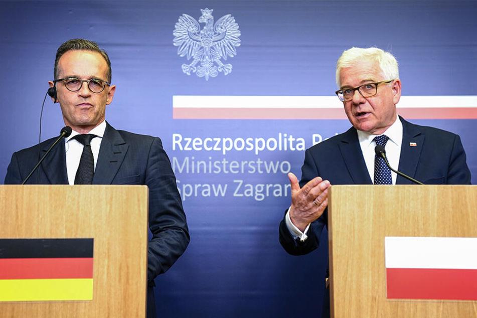 Außenminister Heiko Maas (li.) und Jacek Czaputowicz, Außenminister von Polen, bei einem Treffen Ende Juli in Warschau.