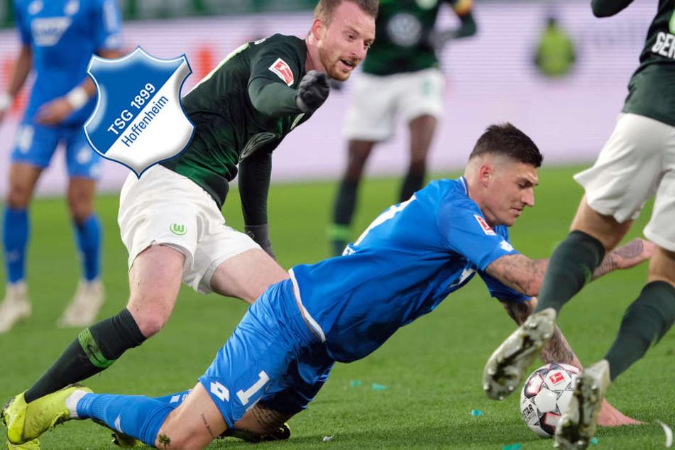 Trotz kämpferischer Leistung: Hoffenheim nur Remis gegen Wolfsburg!