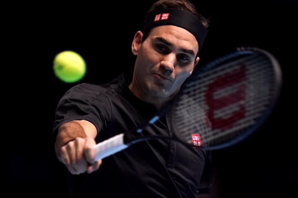 Roger Federer bei der ATP-Tour im November in London.