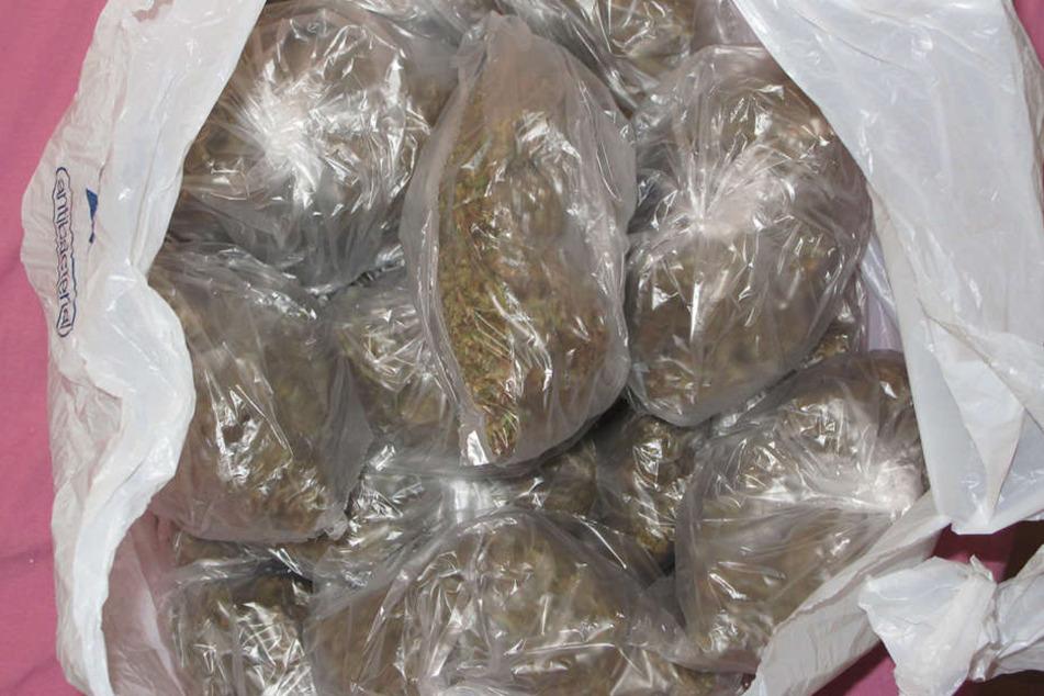 In Chemnitz-Bernsdorf fanden die Ermittler fast 750 Gramm Marihuana.