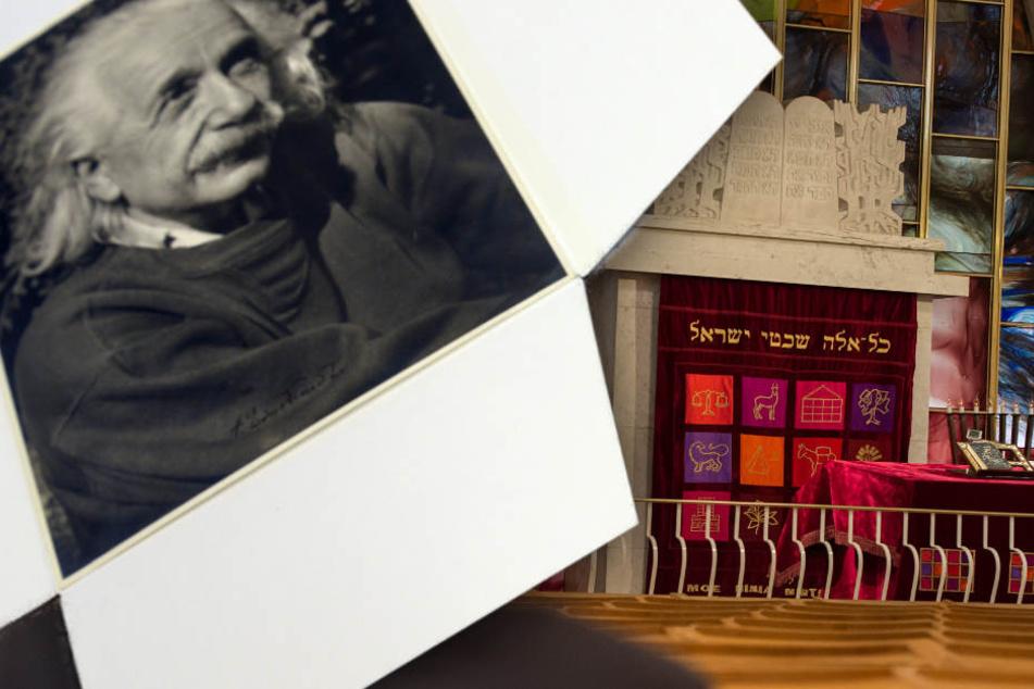 Im Archiv der jüdischen Gemeinde ist ein offenbar Brief von Albert Einstein aufgetaucht.