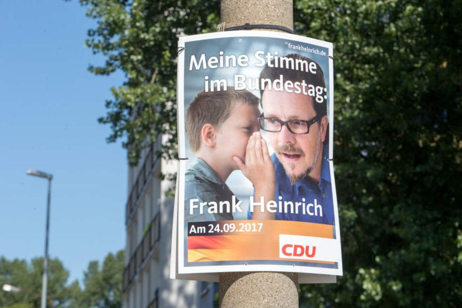 Täglich grüßt das Murmeltier: CDU-Bundestagsabgeordneter Frank Heinrich (53) auf aktuellen Wahlplakaten.