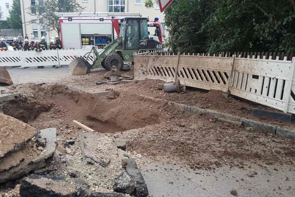 Die Explosion ereignete sich auf einer Baustelle.