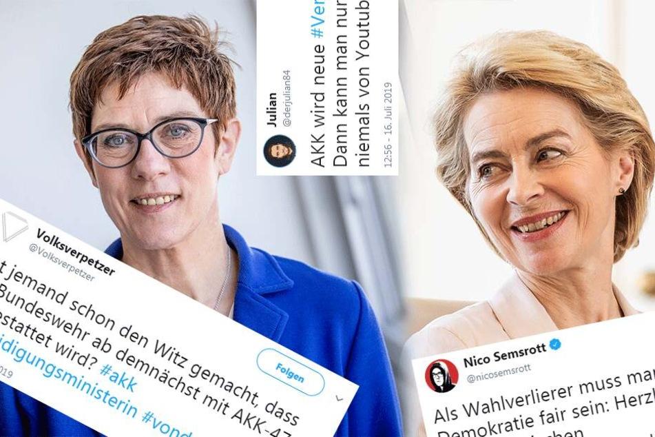 Spott und Häme: So zynisch reagiert das Netz auf Kramp-Karrenbauer und von der Leyen