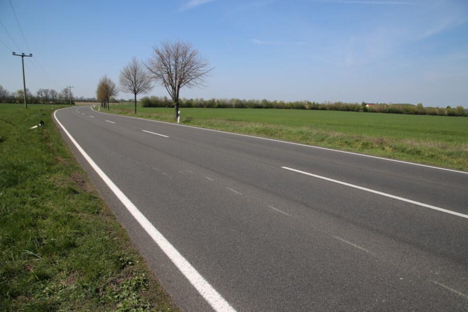 An dieser Stelle war der Motorradfahrer gestürzt und von einem entgegenkommenden Nissan überfahren worden.
