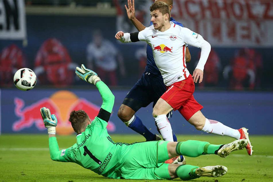Durch den Elfmeter ging RB Leipzig bereits nach zwei Minuten in Führung.